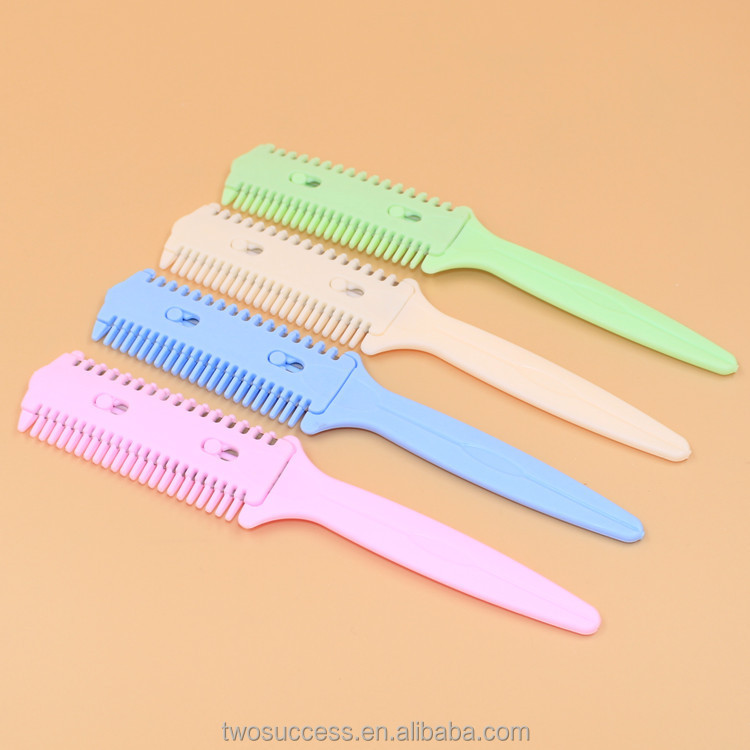 Safe and Convenient Plastic double-sided haircut comb for Hair Salon