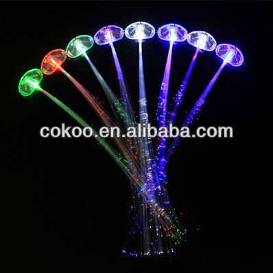 Wholesale popular party fiber light up led hair and ball/flashing Led hair accessories/led hair braid LH-001