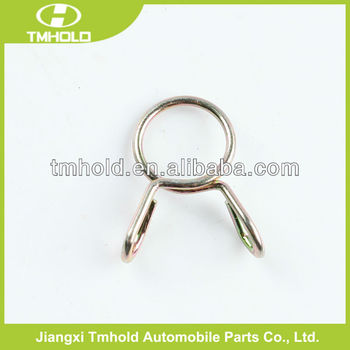 zinc-plating bending single wire clamping clip without screw
