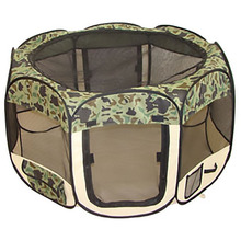 New Camouflage Pet Dog Cat Tent Playpen Exercise Play Pen