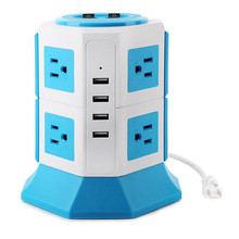 Power Strip 8 Outlet Surge Protector Pop Up Smart 4 USB USB Power Socket