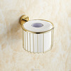 Golden Bathroom Paper Basket Toilet Tissue Holder Bathroom Paper Holder Bathroom Accessaries Toilet Roll Holder