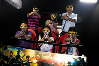 Interactive Games amusement park ride 5d Cinema With 3 glasses
