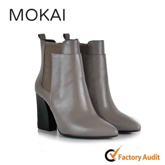 218-MK3 China manufacturer shoes women genuine leather shoes elegant ankle boots