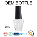 Hollyko china wholesale market clear empty uv gel nail polish 3ml bottle custom logo oem factory