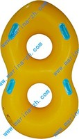 hot summer funny inflatable plastic round boat With Logo Printing For Kids