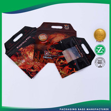Custom plastic slide zipper hot chicken bags/ roasted chicken plastic packaging bag with anti fog function(zzfp163)