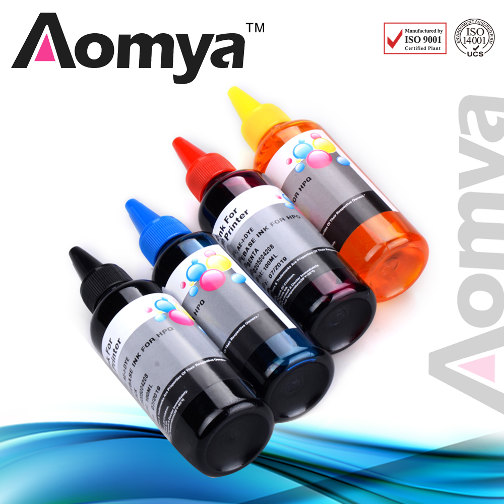 Special Offer Aomya 100ML 4colors sablon dye ink Combo dye ink for printing