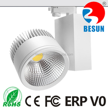CE ROHS TUV SAA Approved High Lumin Dimmable Double Heads COB LED track light 20W 40W 60W 80W 100W