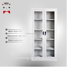 Luoyang WLS Metal Office Glass Storage Large Wardrobe Armoires