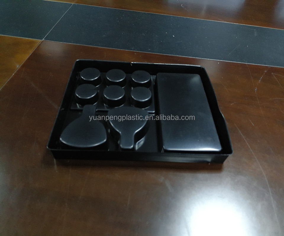 Customized food safe clear/color PVC/PET/PS blister chocolate packaging tray for chocolate packing with factory price