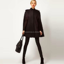 Women/ladies black uniform thickening long sleeve cloak