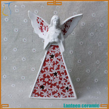 Ceramic winged angel Chrismas decor