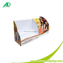 Countertop Customized Desktop Corrugated POS 1 row display stand