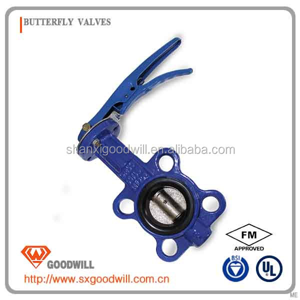 long neck butterfly valve