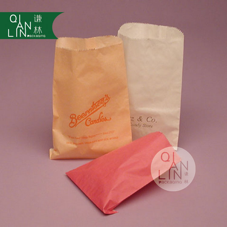 Glassine Lined Paper Bags For Snack Packing