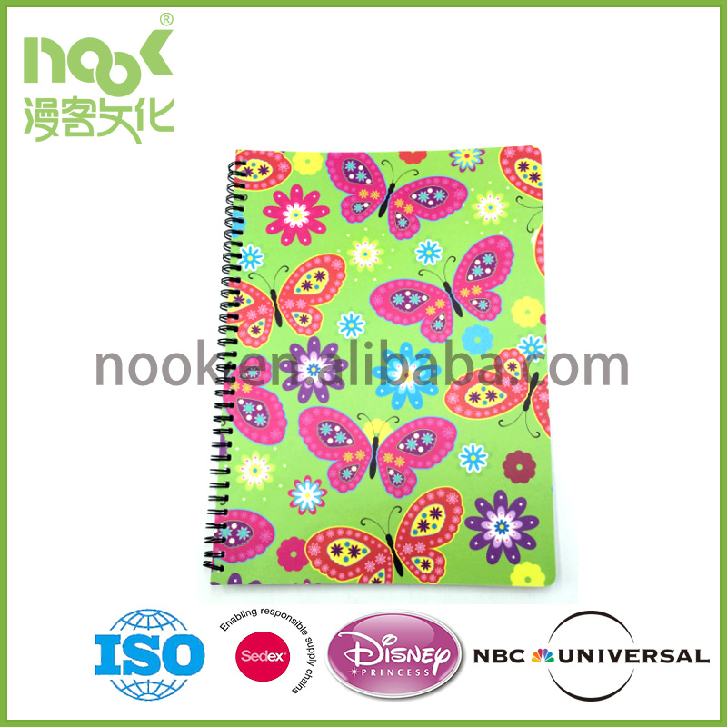 Spiral Notebook With Plastic Cover