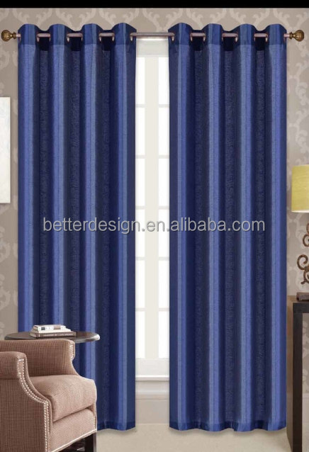 3 DAYS DELIVERY 1PC Simple Faux Silk Type Of Office Window Curtains With Grommets