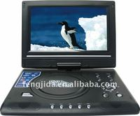 Mobile DVD VCD CD EVD 9 inch portable DVD player with TV USB