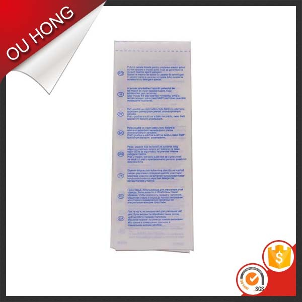 Wholesale Silk Screen Printing Satin Ribbon Care Wash Label for Bag