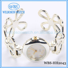 2014 fashion new design silver ladies bangle watch wrist alloy watch