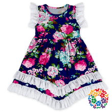 latest children dress designs kids beautiful model lace ruffle dresses