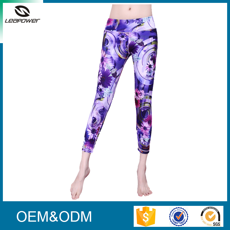 OEM Service Women Gym Wear Leggings Colored Polyester Dry Fit Sweatpants
