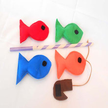 2016 Alibaba best selling fishing game kids felt educational toys