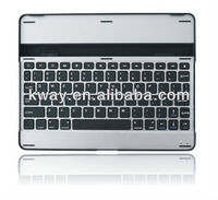 Aluminum Metal Cover Stand with Wireless Bluetooth Keyboard For ipad 2/ iPad 3/iPad 4 with retail package KOA002