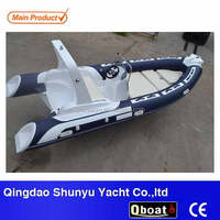 CE certificate korea pvc material 5.2m double V-deep hull semi rigid inflatable boat 520 for sale