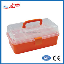 3 Layers Plastic Multipurpose Medicine Box Makeup Cosmetic Case Art Supply Craft Storage Tool Box clear plastic storage box