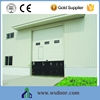 CE-approved industrial steel panel door /gate with small door