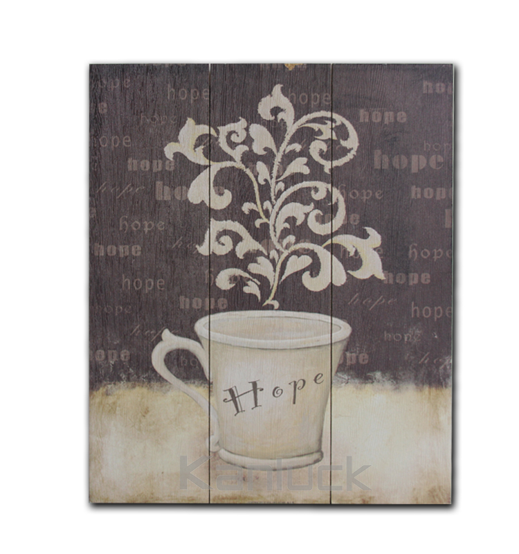 Decorative Wall Hanging Art and Craft for Coffee Bar or Restaurant