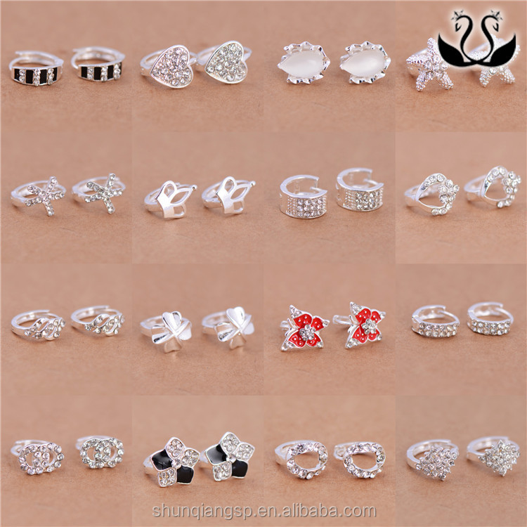 Mixed Style Silver Plated Stock Jewelry Factotry Wholesales Cute ear cuff earrings