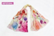 digital priting 100%wool pashmina scarf