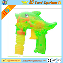 Electric Educational Transparent Plastic Dolphin Bubble Blower Gun