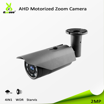 2018 High quality security monitoring cctv ahd bullet camera WDR starlight 4 in 1 ip66 motorized cctv lens sony sensor export