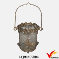 Hanging bowl decoration decorative metal lantern stand