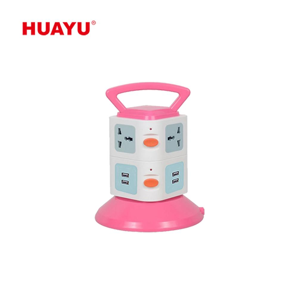 HY-L502 Huayu NEWEST universal CN/EU/EG plug extension 4 USB electric outlet socket with high quality
