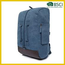 Economic manufacture leather embossed backpack