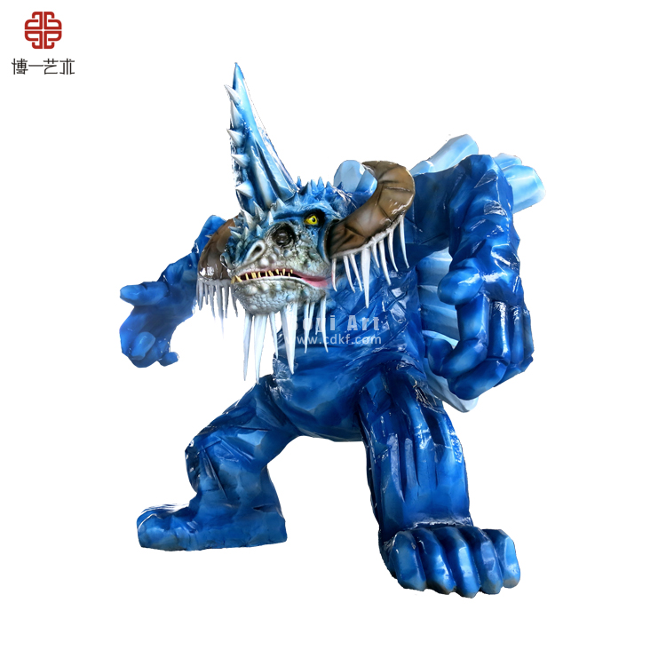 Amazing and Fierce Snowman Monster Simulated robot For Decoration Use