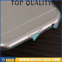 Clear&transparent TPU soft case gel back cover for iphone, for iphone 6 6s tpu case with dust plug