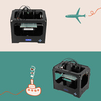 Black Acrylic 3D Digital Printing Machine