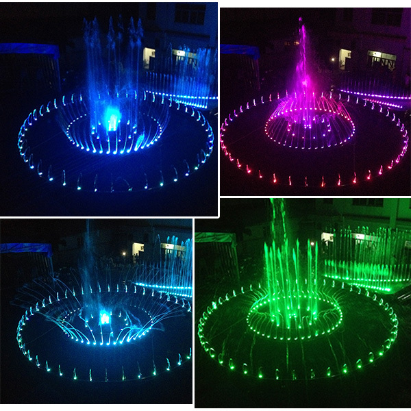 Indoor decorative led light and dancing musical water fountain