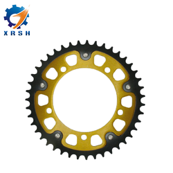 Factory price front and rear motorcycle chain sprocket set