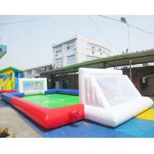 Huaitong multicolor customized size inflatable soap soccer field/pitch portable inflatable football field/court