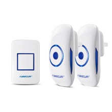FORECUM Wireless Doorbell 36 Music 300m Range AC Plun in Receiver Loud Sound LED Indicator