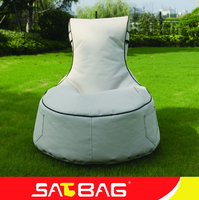 king and queen white high bean bag chairs with back