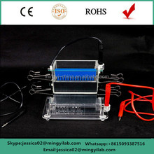 Rapid lab use transferring gel electrophoresis tank