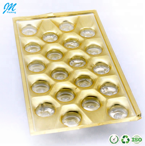 High quality plastic blister food chocolate packaging insert tray